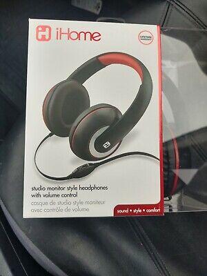 iHome studio monitor style Headphones with volume control