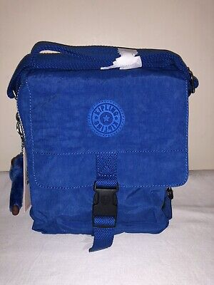 BNWT Kipling Lancelot Crossbody Shoulder/Travel Bag HB2029 Breezyblue Monkey: Al
