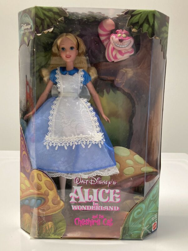 Alice in Wonderland Barbie with the Cheshire Cat 1999 FREE SHIPPING