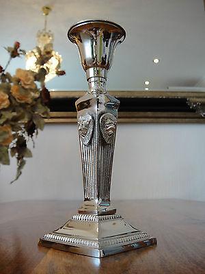Kerzenleuchter Löwe Kerzenhalter Jugendstil Silber Antik Kerzenständer Edel NEU