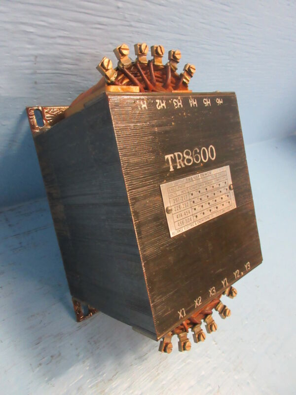 Reliance Electric 69956-W Single Phase Transformer 50/60 Cycles TR8600