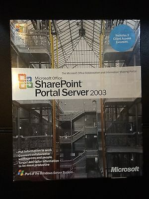Microsoft H04 01010 Sharepoint Portal Server 2003 5 Cal Brand New Factory Sealed