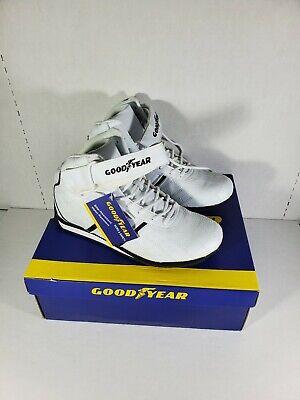 Goodyear Mens Clutch-E Sneaker Driving Shoes High-Top white-black Mens 9.5 NEW Driving Shoes High Top