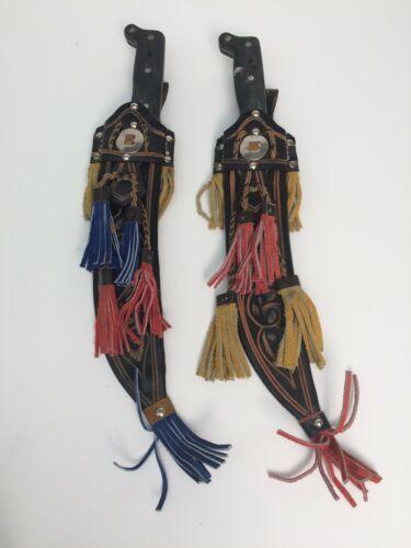"Pair of La Marca ""Palma"" Machetes with Decorative Leather Scabbards 18"""