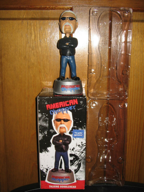 "AMERICAN CHOPPER Paul Teutul Sr TALKING BOBBLEHEAD 8"" Orange County Choppers OCC"