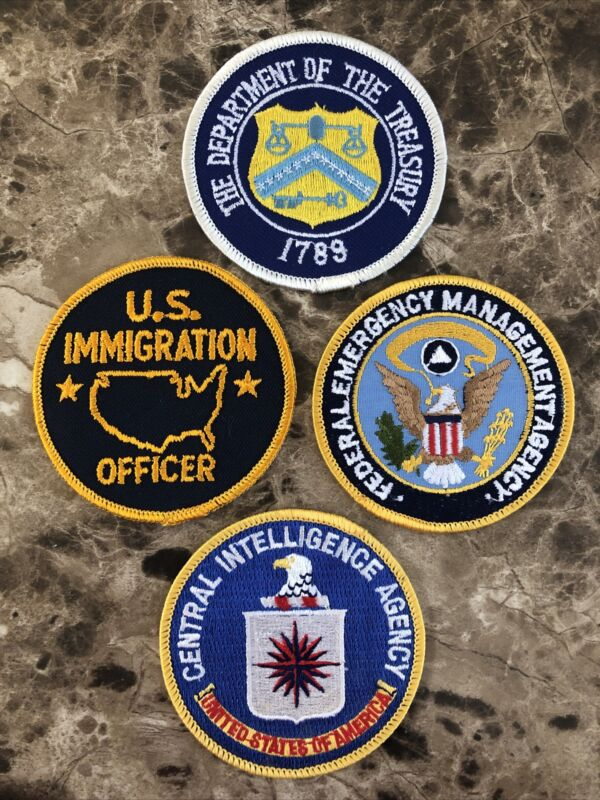 (4) Police Patch Lot - US Immigation Officer, CIA, FEMA & Treasury Department