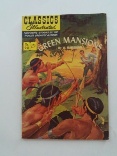 Classics Illustrated #90 - GREEN MANSIONS - HRN 89 VG