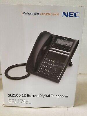 Nec Sl1100sl2100 Be117451 Sl2100 Digital 12-button Telephone Bk