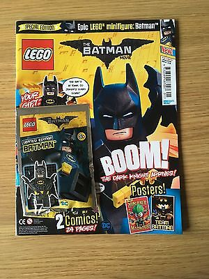 Lego BATMAN MOVIE Magazine ISSUE 1. FEB 2017 WITH LTD EDITION BATMAN MINI FIGURE