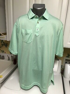 Florida Golf Shirt (FootJoy Men's Golf Shirt Green White Plaid Poly Spandex XL Olde Florida GC )
