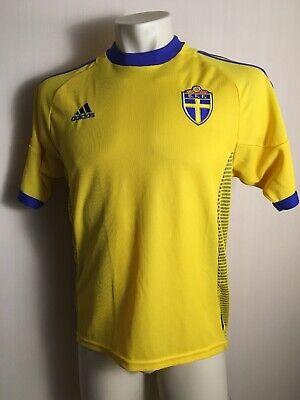 Sweden Home 2002-2003 Football Soocer Jersey Shirt Adidas S Fifa WC Larrson era image