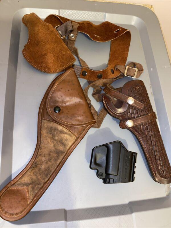 gun holster lot of 4 (1 bianchi, 1 viking, 1 XD gear and 1 moose brand)