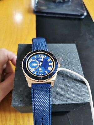 Guess Designer Smart Watch Blue Rose Gold C0001G1 Iphone Android Genuine