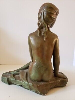 Vintage 1965 Austin Prod. Mid Century Modern Nude Woman Figural Statue Sculpture