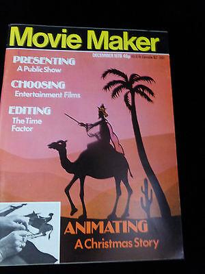 Movie Maker Magazine  December 1978  Like New