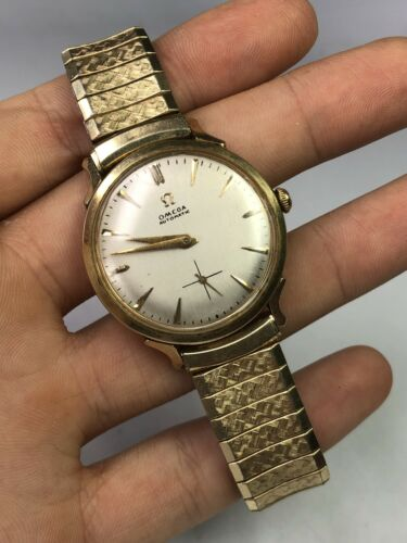 Vintage Men's Omega Automatic Watch Gold Filled Bumper - WORKS