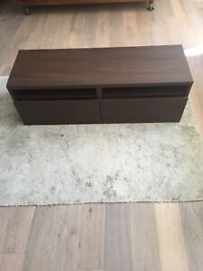 TV Stand with Two Drawers and Two Shelves For Sale