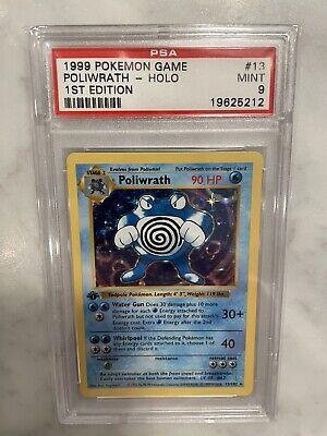 Pokemon Base Set 1st Edition Shadowless Poliwrath 13/102 PSA 9 MINT