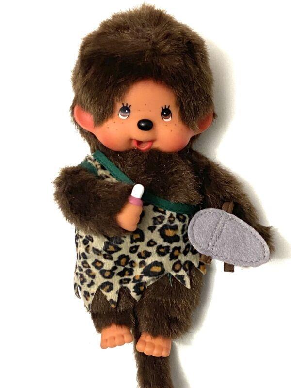Vintage Sekiguchi Monchhichi Monkey Plush Caveman Boy RARE