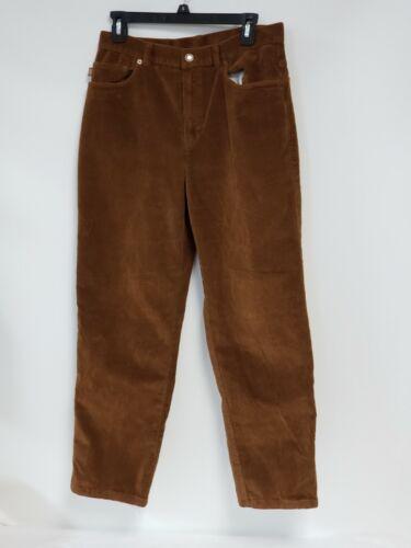 Ralph Lauren Womens Corduroy Pants Brown Size 10 Straight Leg Classic Fit VINTAG