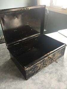 Antique Lock Box with skeleton key