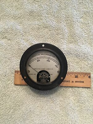 Vtg Radio Panel Meter Weston Milliamperes 0-300 Model 301 Me462