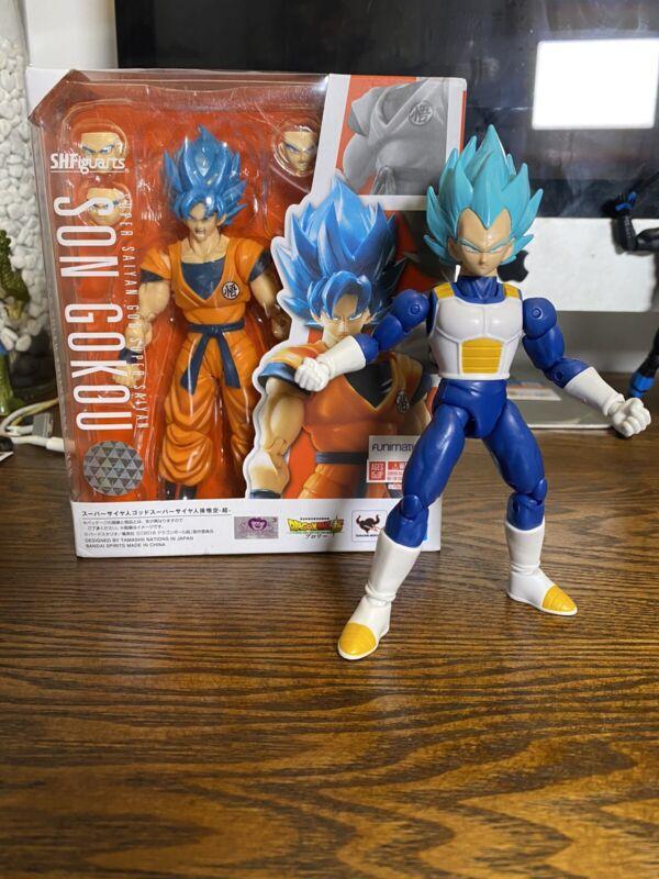 S.H.Figuarts Dragonball Super Saiyan God Goku SSGSS Blue Dragon Stars Vegeta