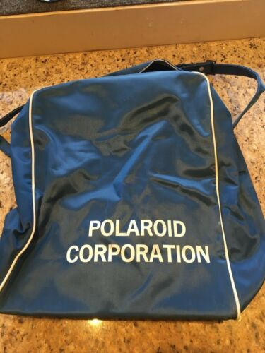 Vintage Polaroid Corporation Travel Bag with Zipper Retro