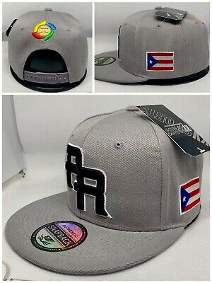 PUERTO RICO WBC 3-D EMBROIDERED FLAG ON SIDE SNAPBACK HAT  FREE PIN GIFT