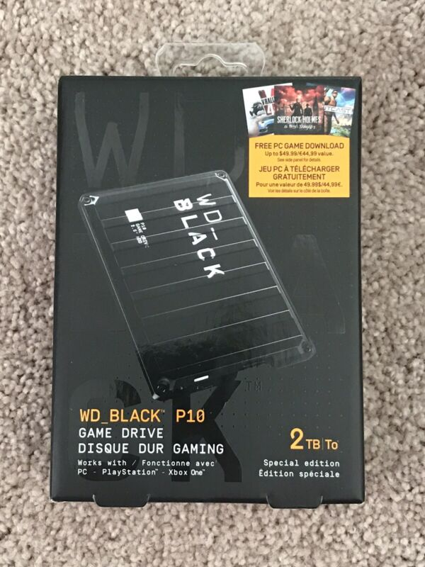 New WD 2TB WD BLACK P10  2TB Game Drive  - Sealed!