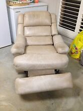 Cream leather recliner Dangarsleigh Armidale City Preview