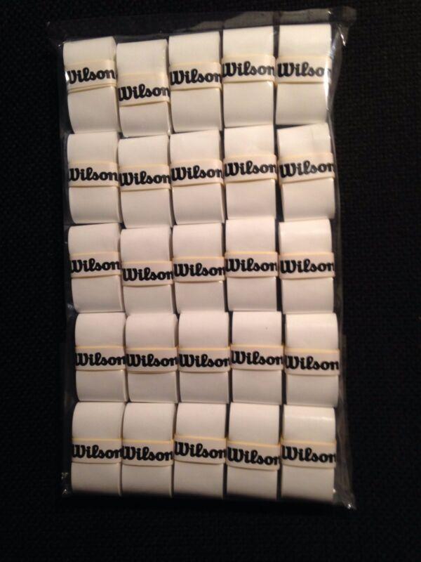 New Wilson Pro overgrip 25 pack- comfort- white