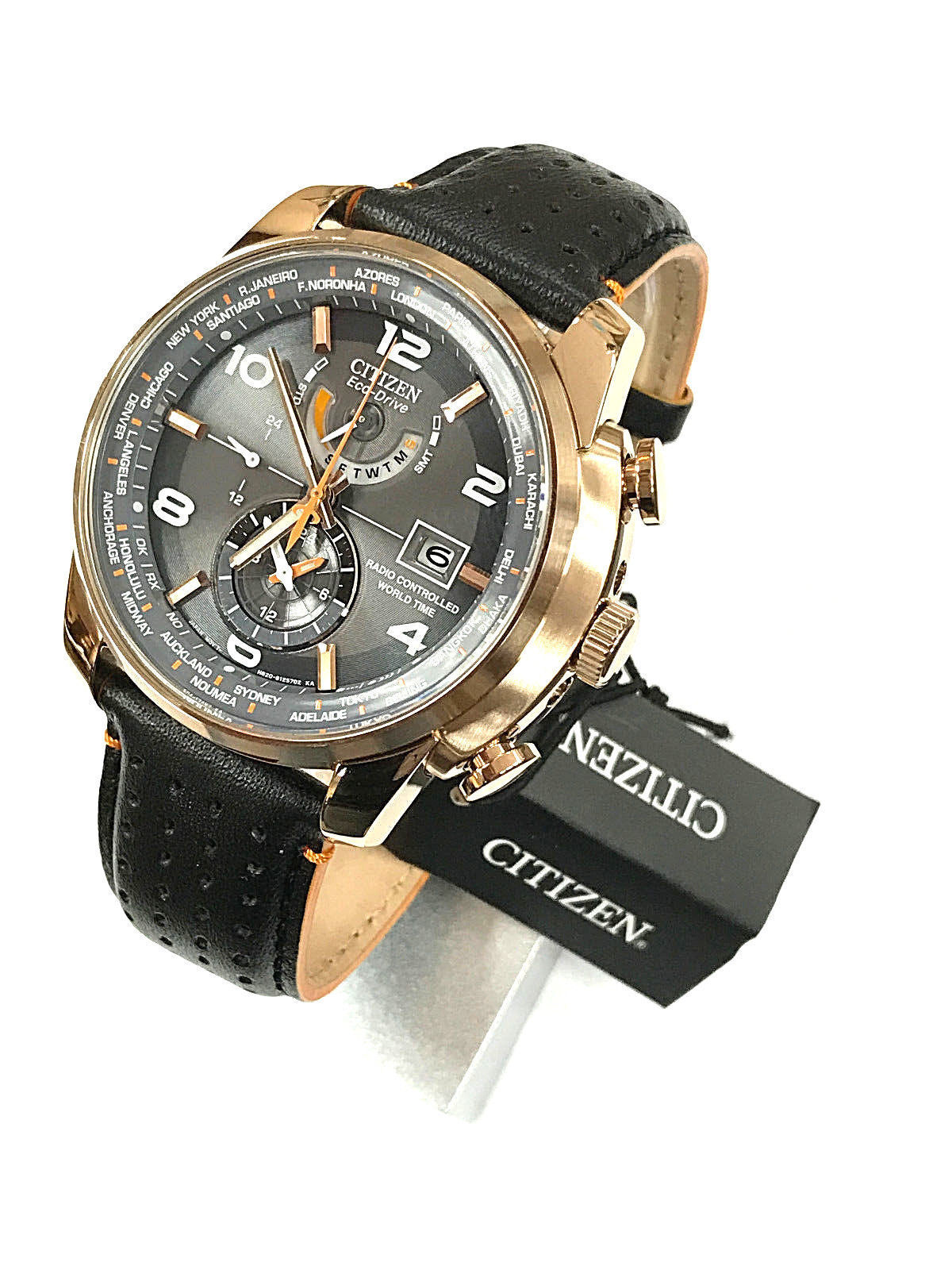 $214.99 - Citizen World Time Rose Gold Men's Watch AT9013-03H ***NEW***
