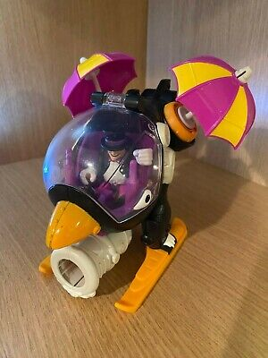 IMAGINEXT FIGURE THE PENGUIN LOT FIGURE COPTER HELICOPTER DC BATMAN FISHER PRICE