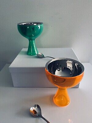 ALESSI   Big Love Ice Cream Bowls ( Set of Two)  Green + Orange Big Love Ice Cream Bowl