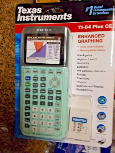 Texas Instruments Ti-84 Plus CE Graphing Calculator-Mint-Ships USPS or FedEx