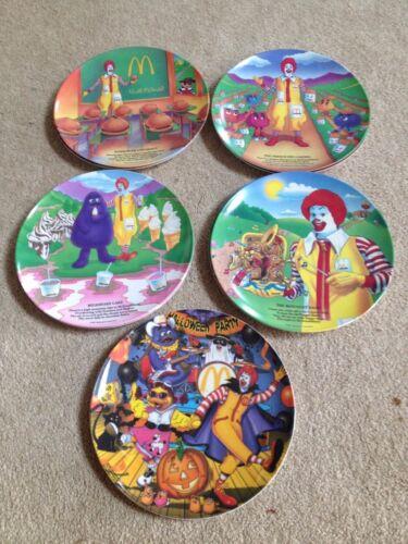 MacDonalds Plates Set of 5/ Halloween Plate
