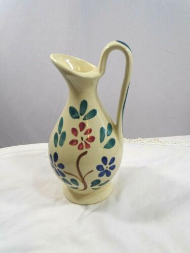 Vintage PURINTON SLIP WARE Pottery Rebecca Jug Pitcher Nice Floral Pattern EUC
