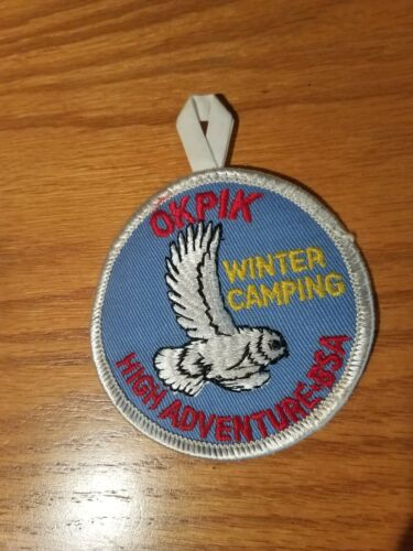 """Vintage Okpik Winter Camping High Adventure BSA Embroidered 3"""" Patch"""