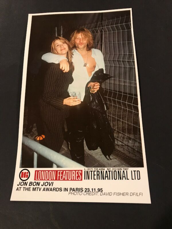 "John Bon Jovi  5 X 8 1/4"" Vintage Original Color Photo 1995"