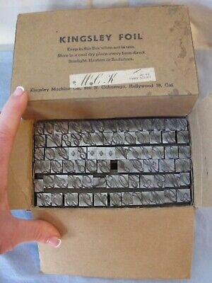 48 Pt. Typo Script Kingsley Machine Monogram Type For Hot Foil Stamp M-60