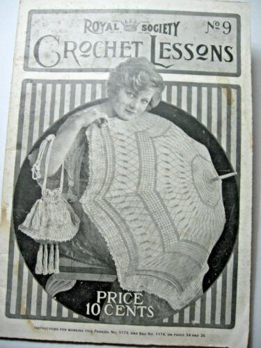 1917 Royal Society Crochet Lessons  No. 9 Booklet