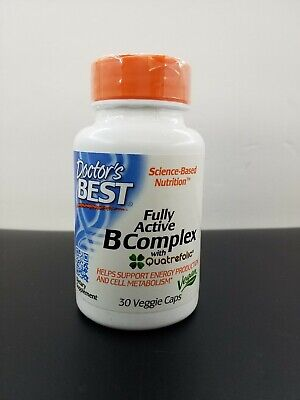 Doctor's Best Fully Active B Complex Non-GMO Gluten Free 30 Veg Caps EXP (Doctor's Best B Complex)