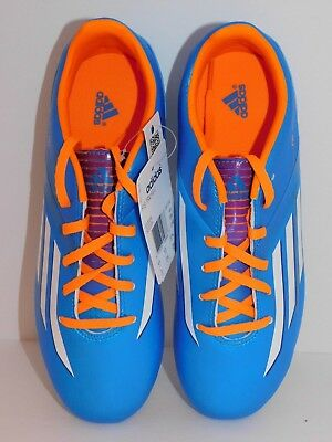 san francisco 245f9 48ae5 adidas F10 TRX FG Soccer Shoes Cleats Aqua Blue   Orange Kids Youth Size 5  NEW
