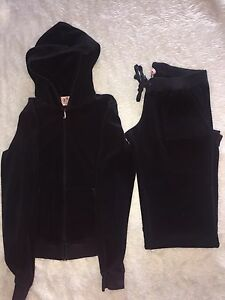 Black Juicy Couture Terry Cloth Track Suit