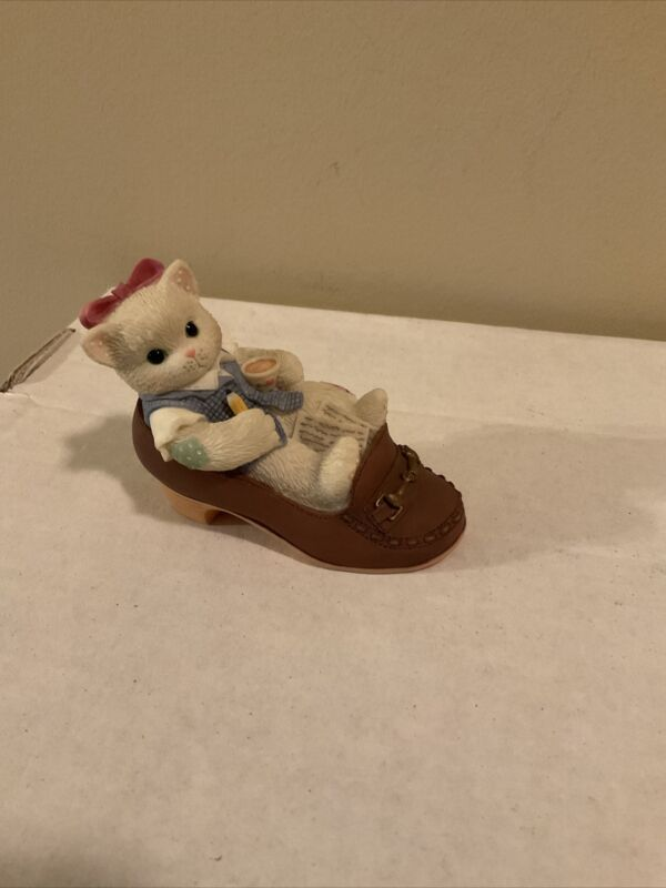 "Calico Kittens Enesco ""It's A Challenge To Follow In Your Footsteps"" No Box"