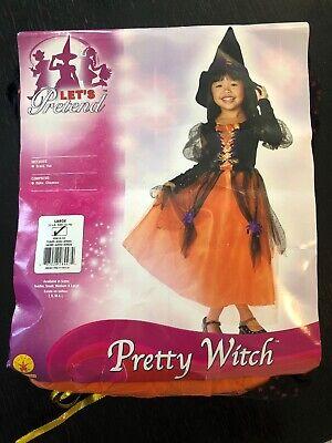 New Pretty Witch Girls Halloween Costume L (12-14) - Girls Pretty Witch Kostüme