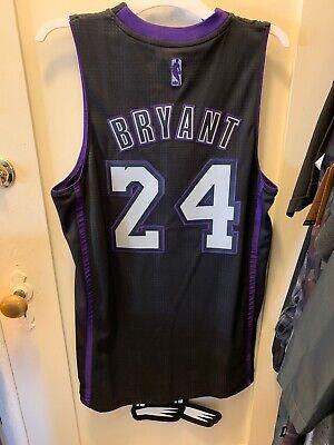 Kobe Bryant #24 Black and Purple Jersey Black Mamba Limited ...