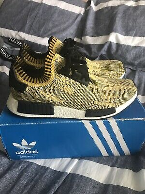 Adidas Nmd R1 PK Static Gold/Yellow Camo Size 10.5 Boost