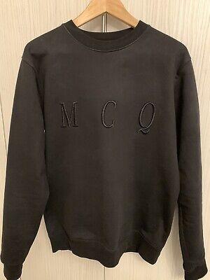 McQ Alexander McQueen Mens Sweatshirt - Black - Embroidered MCQ Detail- Medium
